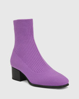 Orbit Amethyst Recycled Knit Ankle Boot