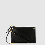 Bexley Black Leather Minimalist Clutch