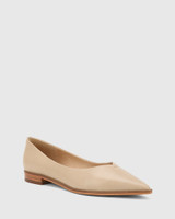 Miley Cosmetic Leather Pointed Toe Flat.