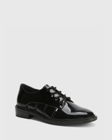 Camira Black Patent Leather Cut Out Brogue.