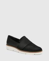 Jacintha Black Hair-on Leather Loafer