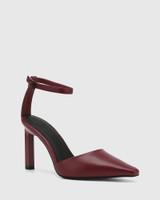 Hochi Bloodstone Leather Stiletto Heel Pump