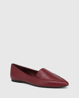 Packhamm Bloodstone Leather Pointed Toe Loafer