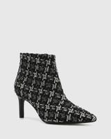 Phantom Black Tweed Boucle Ankle Boot