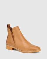 Jemina Tan Leather Ankle Boot
