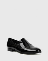 Dacey Black Patent Loafer.