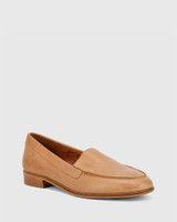 Havarra Brandy Leather Almond Toe Loafer.