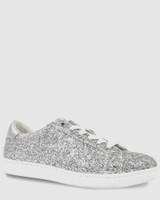 Allie Silver Glitter Sneaker.