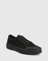 Xylon Black Corduroy Lace Up Sneaker