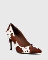 Hilson Cow Print Hair On Leather Stiletto Heel.