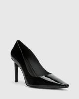 Hay Black Patent Leather Almond Toe Stiletto Heel