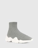 Anniston Grey Stretch High Top Sneaker.