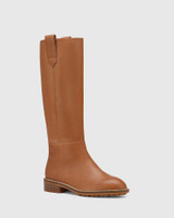 Dericka Tan Leather Long Boot