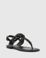 Cavannah Black Patent Leather With Trim Slide.