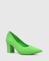 Perfection Kermit Green Recycled Knit Pump.