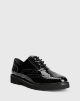 Dexley Black Patent Leather Wingtip Lace Up Brogue.