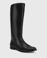 Bindigo Black Scotch Leather Pull On Long Boot.
