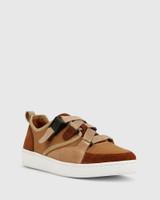 Gazelle Brown Suede & Mesh Sneaker.