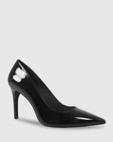 Harman Black Patent Pointed Toe Stiletto Heel.