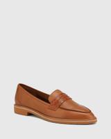 Espresso Cognac Leather Almond Toe Loafer