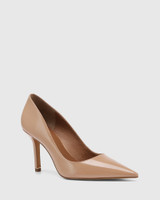 Quendra Sunkissed Tan Patent Leather Pointed Toe Pump