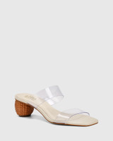 Vitto Clear Vinylite With Rattan Woven Heel Sandal