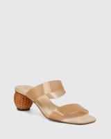 Vitto Sand Vinylite With Rattan Woven Heel Sandal
