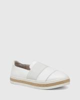 Billi White Leather Loafer