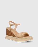 Yvonne Sand Leather Wedge Sandal