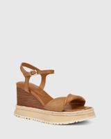 Yvonne Golden Tan Leather Wedge Sandal