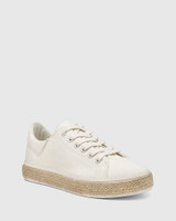 Ohara White Canvas Lace Up Espadrille Sneaker