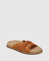 Zella Coconut Knotted Leather Slide