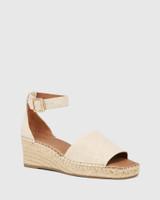 Krysta Natural Linen Espadrille Wedge Sandal