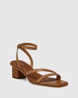 Jansen Golden Tan Leather Strappy Sandal