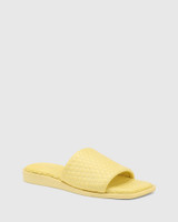 Arkk Yellow Quilted Leather Slide