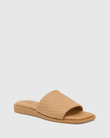 Arkk Camel Quilted Leather Slide