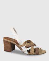 Narina Multi Weave Slingback Block Heel Sandal.