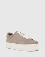 Francisco Stone Suede Flatform Sneaker.
