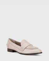 Dennis Silver Grey Leather Loafer.