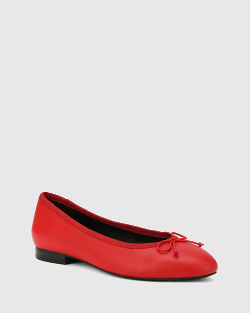 Aroma Red Leather Ballet Flat.