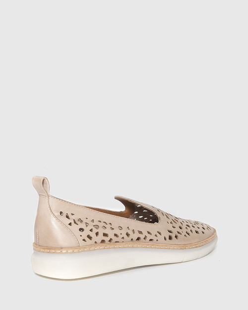 East Blush Leather Almond Toe Loafer. & Wittner & Wittner Shoes