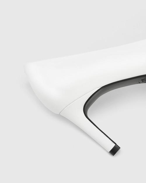 Phoenix White Leather Stiletto Heel Pump. & Wittner & Wittner Shoes