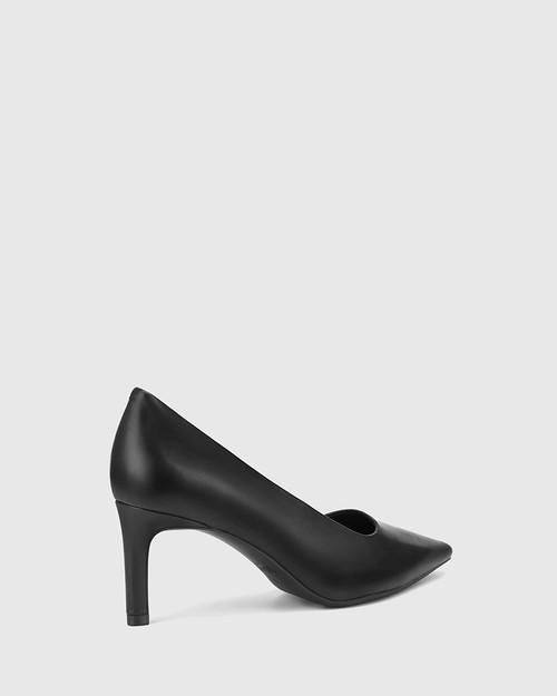 Phoenix Black Leather Stiletto Heel Pump. & Wittner & Wittner Shoes