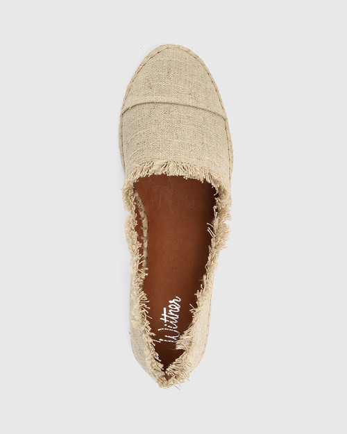 Ecstatic Natural Linen Loafer Espadrille. & Wittner & Wittner Shoes