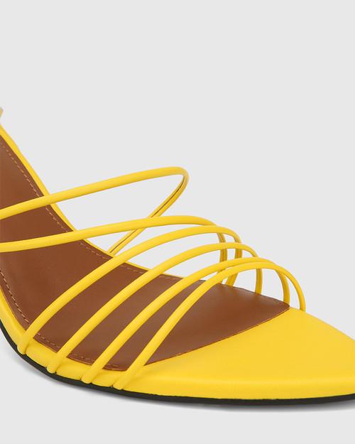 Raelynn Yellow Leather Strappy Sandal. & Wittner & Wittner Shoes