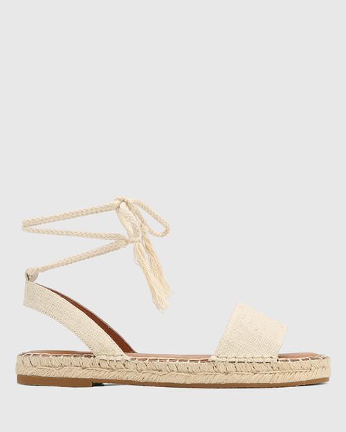 Dorenzo Natural Canvas Espadrille Sandal. & Wittner & Wittner Shoes