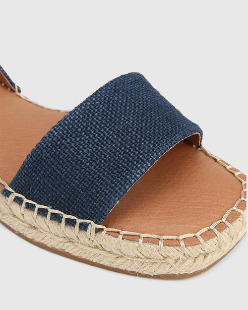 Dorenzo Navy Canvas Espadrille Sandal. & Wittner & Wittner Shoes
