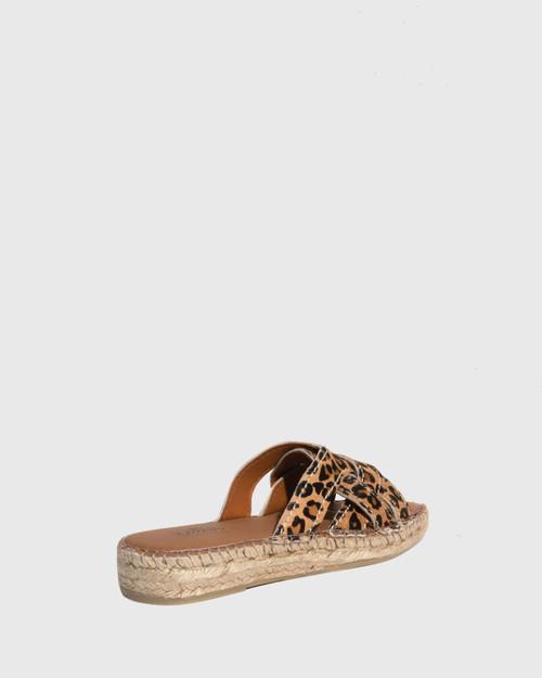 Usko Leopard Print Stitched Espadrille Slide & Wittner & Wittner Shoes