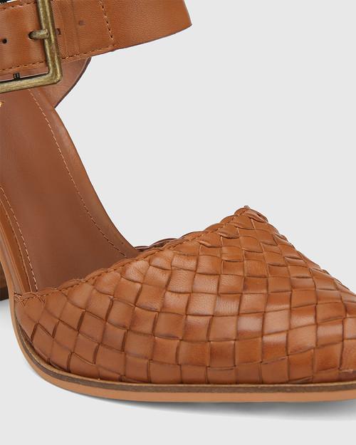 Whimsical Brandy Leather Block Heel Pump & Wittner & Wittner Shoes