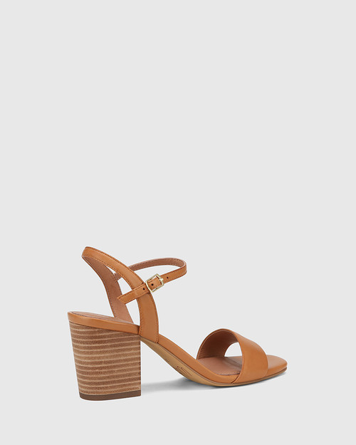 Collin Tan Leather Block Heel Sandal & Wittner & Wittner Shoes